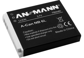 ANSMANN A-CAN NB 6L Akku, Li-Ion, 750 mAh