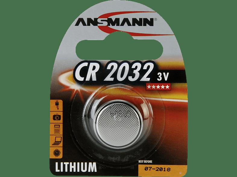 ANSMANN CR 2032  Knopfzelle, Silber