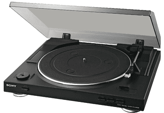 Tocadiscos - Sony PS-LX300USB Negro, USB, MP3