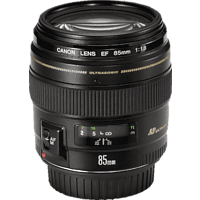 CANON EF 85 mm f/1.8 USM, EF (Objektiv für Canon EF-Mount, Schwarz)
