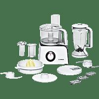 BOSCH MCM 4100 Kompaktküchenmaschine Weiß/Anthrazit (Rührschüsselkapazität: 2,29 Liter, 800 Watt)