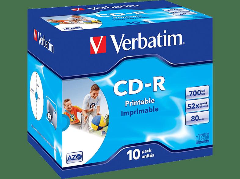 VERBATIM 43325 Printable Bedruckbar CD-R 80 52x CD-R