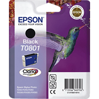 EPSON Original Tintenpatrone Kolibri Schwarz (C13T08014011)