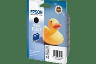 EPSON Original Tintenpatrone Badeente Schwarz (C13T05514010)