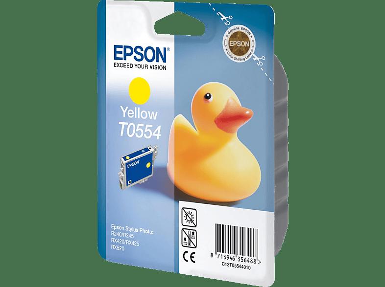 EPSON Original Tintenpatrone Badeente Gelb (C13T05544010)