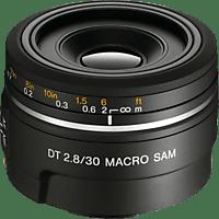 SONY SAL30M28 30 mm f/2.8 DT, Circulare Blende (Objektiv für Sony A-Mount, Schwarz)