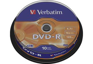 VERBATIM 43523 DVD-R 4,7GB 16X Rohling