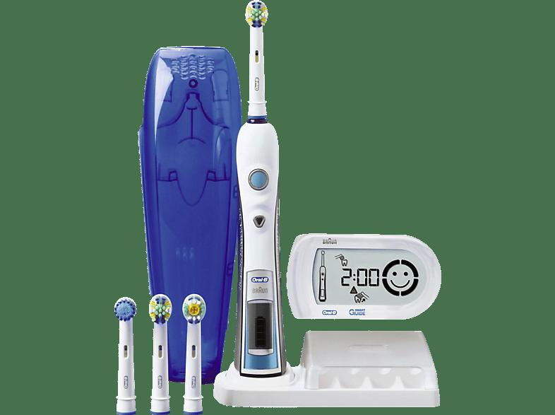 elektrische Zahnbürste ORAL B Triumph 5000 Elektrische Premium Zahnbürste mit Smart Guide elektrische Zahnbürste Silber Weiß Blau | MediaMarkt