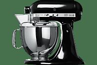 KITCHENAID 5KSM150PSEOB Artisan Küchenmaschine Schwarz (Rührschüsselkapazität: 4,83 Liter, 300 Watt)