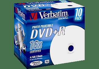 VERBATIM 43508 Printable Bedruckbar DVD+R 16X Rohling