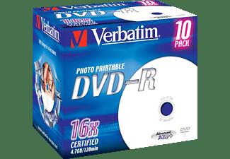 VERBATIM 43521 Printable Bedruckbar DVD-R 16X Rohling