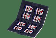 HAMA Fancy Speicherkarten-Etui, max. 8 SD und MMC Karten, Schwarz
