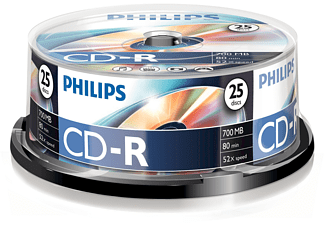 PHILIPS CD-R 80 52x spindel 25 st.