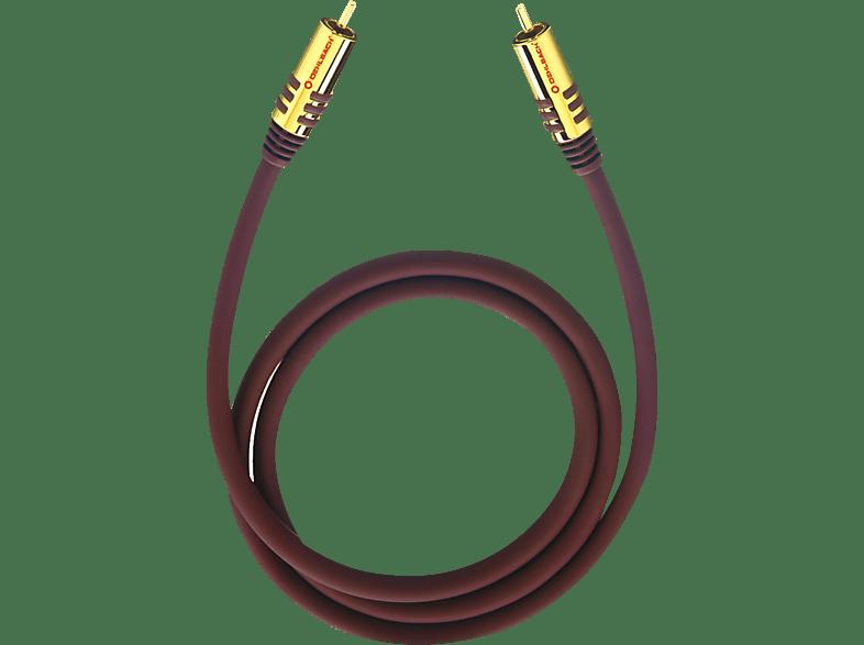 OEHLBACH NF Sub 200 Subwoofer Cinch-Kabel 2 m Subwooferkabel, Schwarz