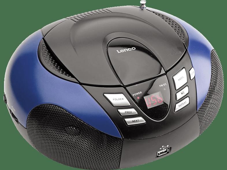 LENCO SCD-37 Radiorecorder (Blau)