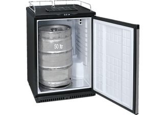 EXQUISIT BK160+ Gewerbekühlschrank (329 kWh/Jahr, 891 mm hoch, Schwarz)