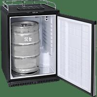 EXQUISIT BK160+ Gewerbekühlschrank (329 kWh/Jahr, -, 891 mm hoch, Schwarz)