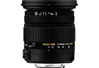 SIGMA 583955 17 mm - 50 mm f/2.8 EX, DC, HSM, OS (Objektiv für Nikon F-Mount, Schwarz)