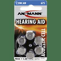 ANSMANN 675, PR44 PR44 Hörgeräte-Batterien, Zink-Luft, 1.4 Volt 6 Stück