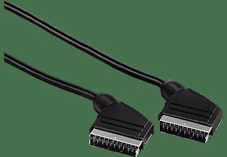 HAMA Scart-Verbindungskabel Stecker - Stecker, 1,5 m schwarz