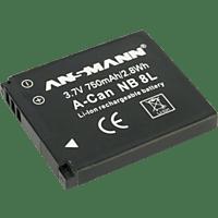 ANSMANN A-Can NB 8 L Akku  , Li-Ion, 3.7 Volt, 750 mAh