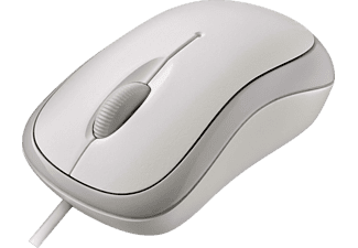 MICROSOFT Basic Optical Mouse, bianco - Mouse (Bianco)