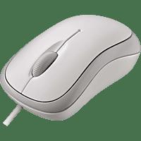 MICROSOFT Basic Optical Mouse Maus, Weiß