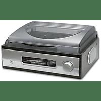 KARCHER Schallplattenspieler KA 8050 Schallplattenspieler (Silber/Mahagoni-Nachbildung)