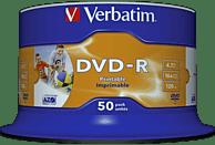 VERBATIM 43533 Printable Bedruckbar DVD-R 4,7GB 16X Rohling