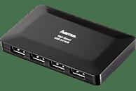 HAMA 1:4, USB-Hub, Schwarz