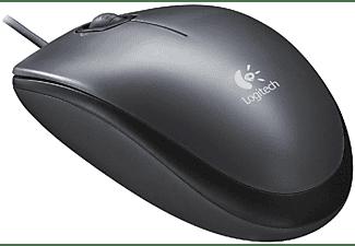 Ratón con cable - Logitech M90, conexión USB, color negro