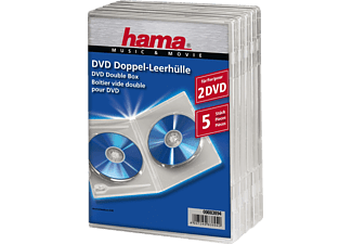 HAMA 83894 DVD DOUBLE SLIM BOX - DVD-Leerhülle (Transparent)