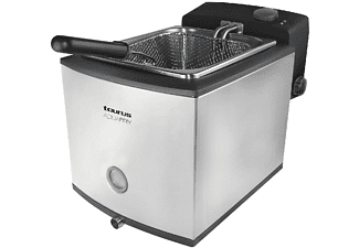 Freidora - Taurus Aquafry, Potencia 2000W, Capacidad 4,5L, 1L de agua, toque frío, Acero inox