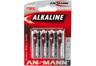 ANSMANN 5015563 AA Mignon Batterie, Alkaline, 1.5 Volt 4 Stück