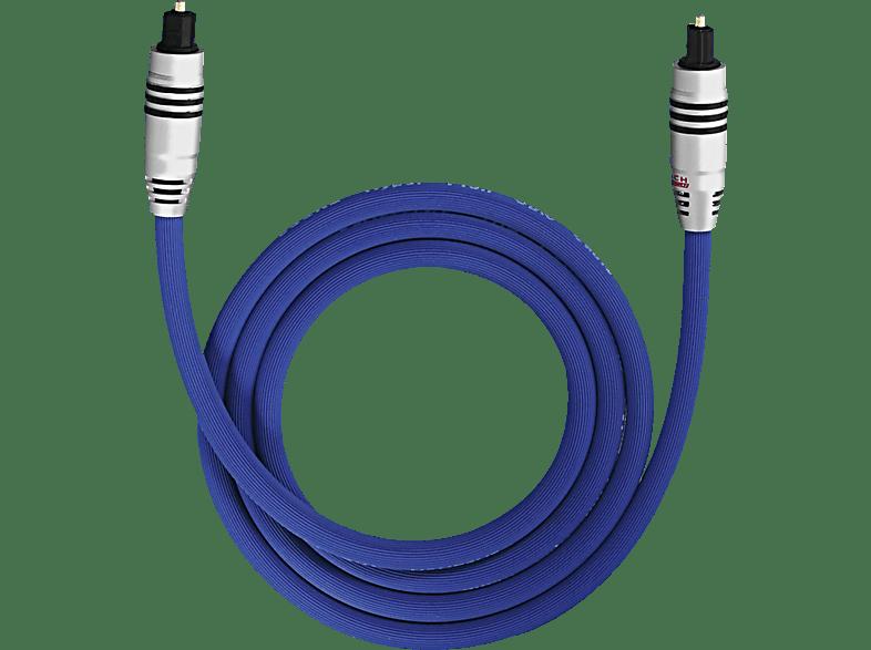 OEHLBACH XXL Series 80 Optisches Digitalkabel, Premium-Klasse 0,5m Optisches Digitalkabel, Blau