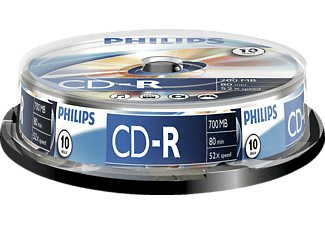 Bobina 10 CD-R - Philips CD-R CR7D5NB10/00, 700Mb, 80min