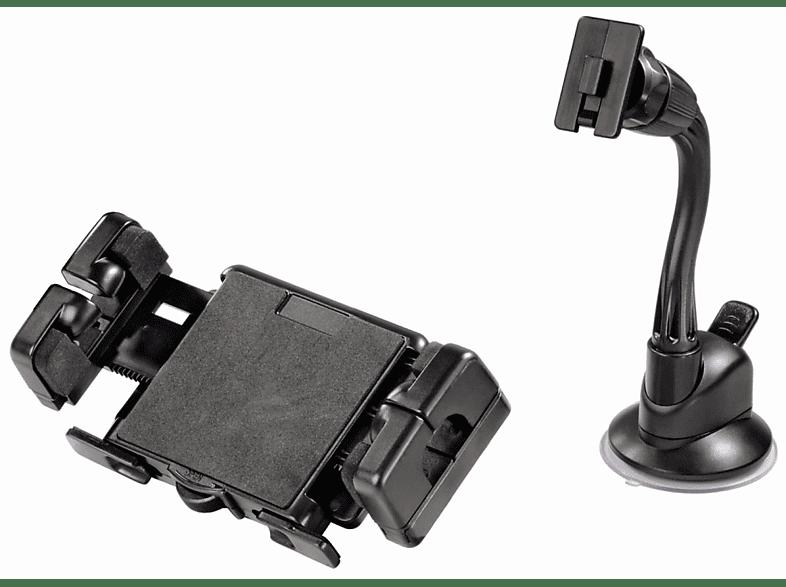 HAMA Kit Big 2-in-1Long, Navihalterung, passend für Navigationssystem, Schwarz