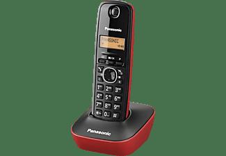 Teléfono - Panasonic KX-TG 1611 SPR Rojo con identificador de llamadas