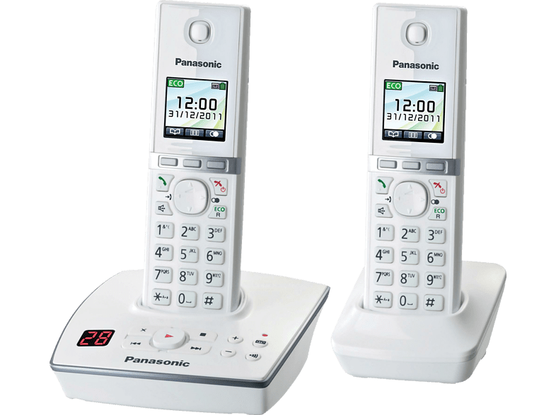 PANASONIC KX-TG 8062 GW Schnurloses Telefon