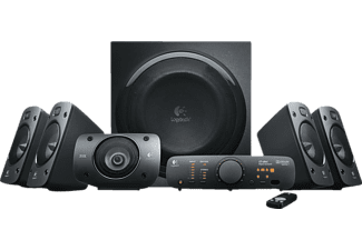 LOGITECH Surround Sound Speakers Z906, nero, 500 W - Altoparlanti per PC (Nero)