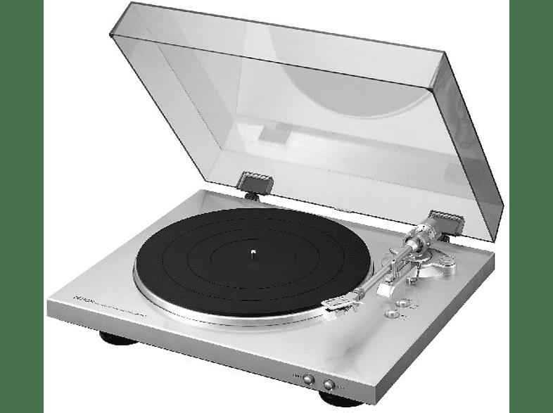 DENON DP-300F Vollautomatischer Plattenspieler (Silber)