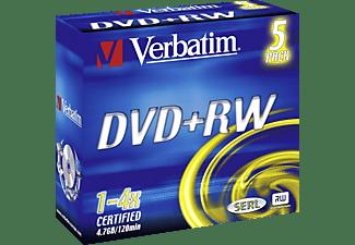 VERBATIM DVD+RW 5er Pack 4x Matt Silver