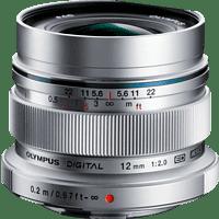 OLYMPUS Pen M ZUIKO DIGITAL ED 12mm 1:2.0 12 mm - 12 mm f/2 ED, MSC (Objektiv für Micro-Four-Thirds, Silber)