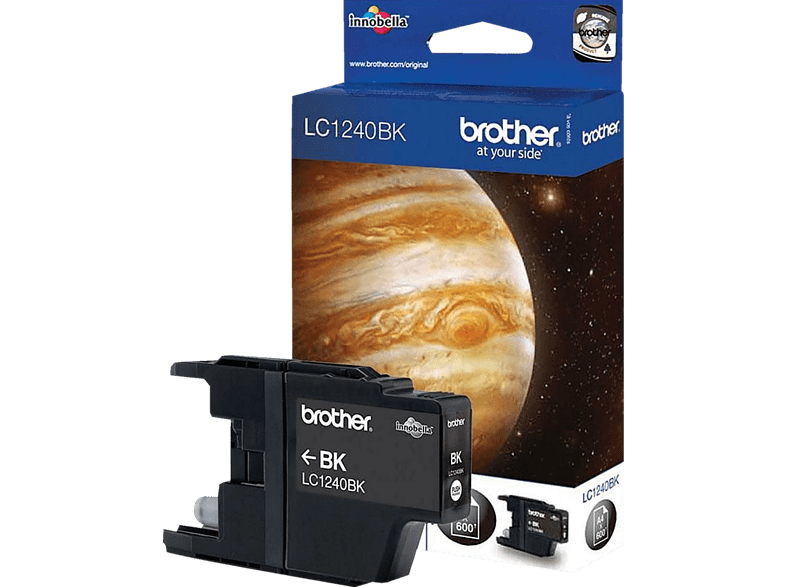 BROTHER LC-1240BK Blister Zwart