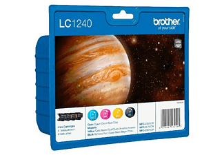 BROTHER LC-1240 Blister Noir - Cyan - Magenta - Jaune