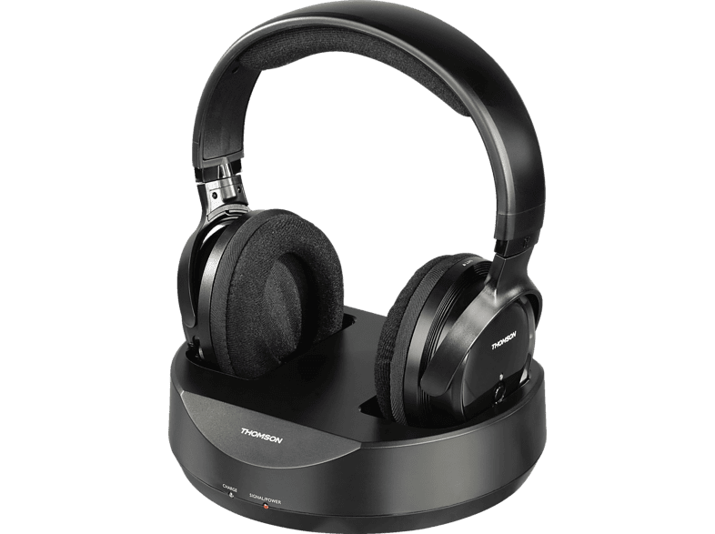 THOMSON WHP3001BK, Over-ear Funkkopfhörer  Schwarz