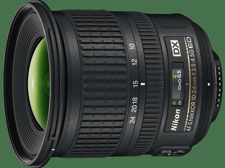 NIKON AF-S DX NIKKOR 10–24mm 1:3,5–4,5G ED  für Nikon F-Mount, 10 mm - 24 mm, f/3.5-4.5