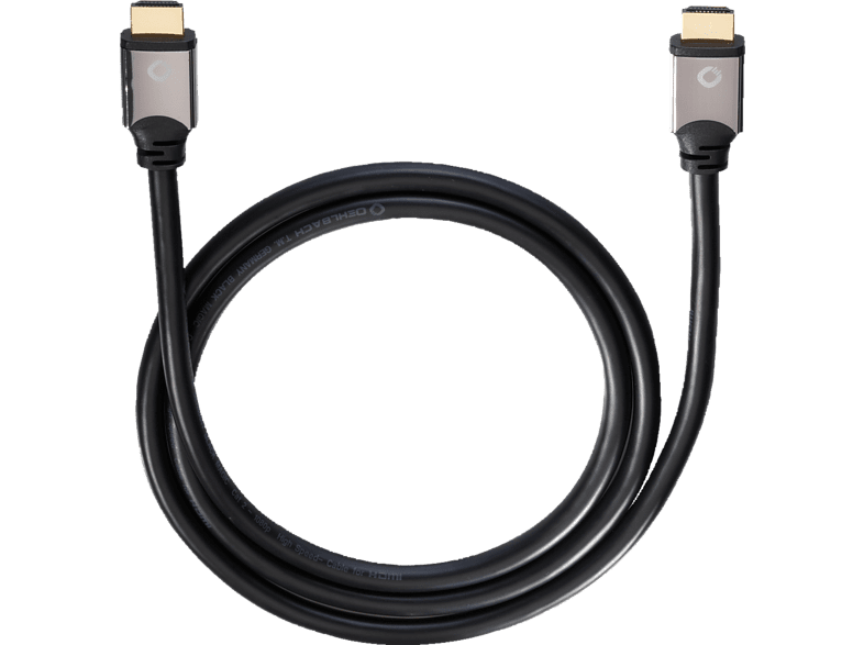 OEHLBACH Black Magic 170 High-Speed-HDMI® Kabel mit Ethernet 1700 mm HDMI Kabel