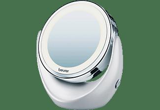 Espejo lumínico - Beurer BS49 5 niveles de aumento, Iluminación LED, Funciona con pilas