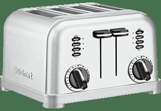 Tostadora - Cuisinart CPT180E 1800W, Capacidad para 4 tostadas, Inox